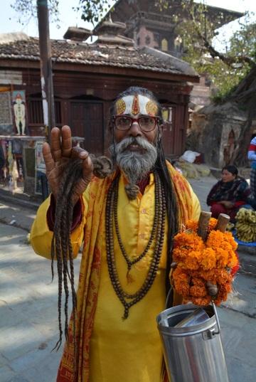 Hindu Gurus. I swear he was high.