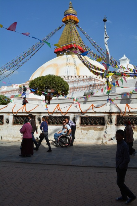 Boudhanath Stupa was founded by the Tibetans in the 15th century. however the current structure does not resemble this.