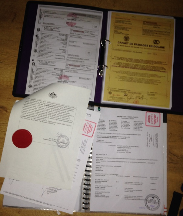 Authenticated medical documents with Russian copies. Laminated copies of our frequently used documents