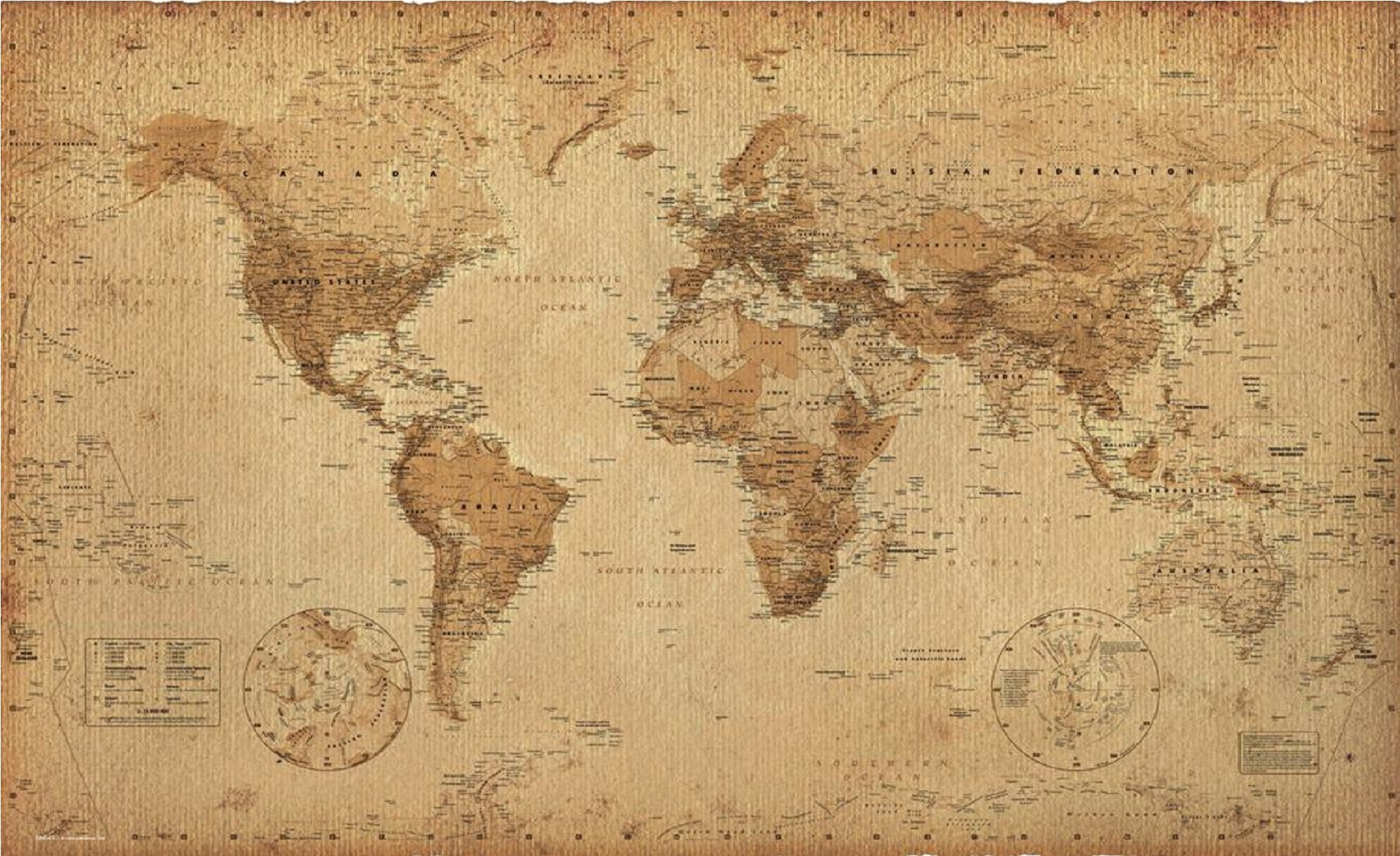 World Map Old Timekeeperwatches
