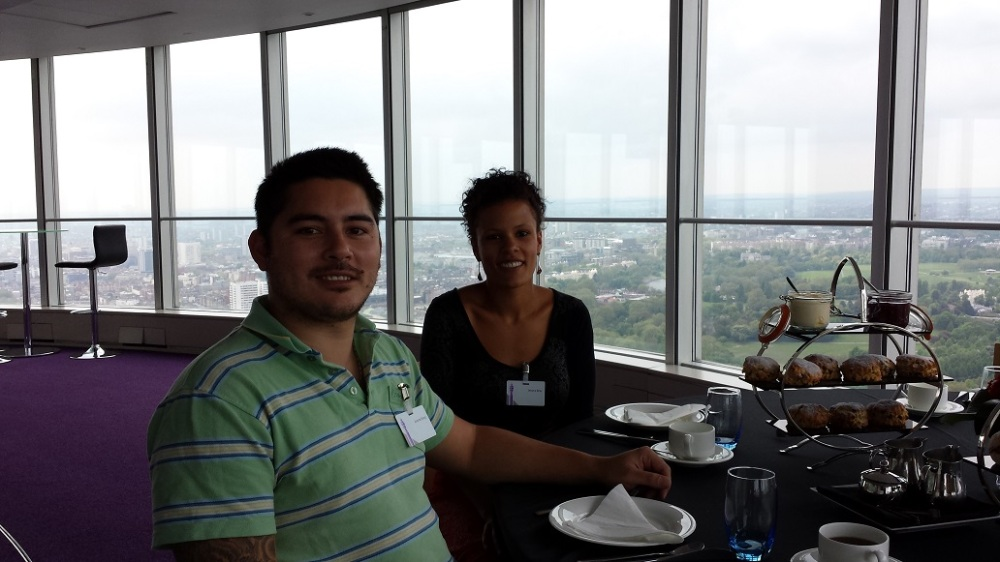 Feeling VIP on top of the BT tower.