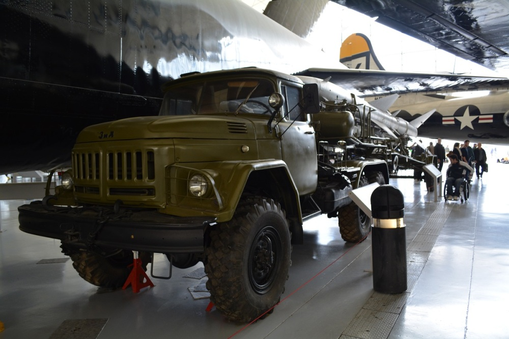 Russian SCUD missile launcher. Can also be used with nuclear warheads. Truck is the same bran as my motorbike a Ural