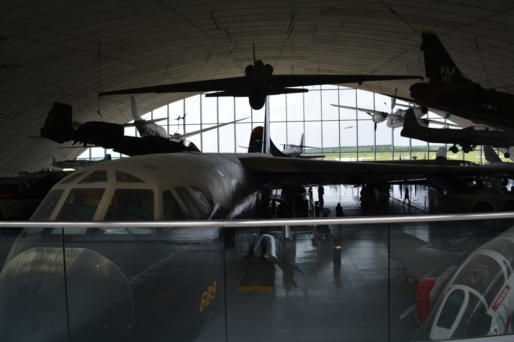 They manage to pack so much into this hangar, with a B-52 in the middle, even a B-29, B-25, A-10, U-2, F-111, F-4 and much much more
