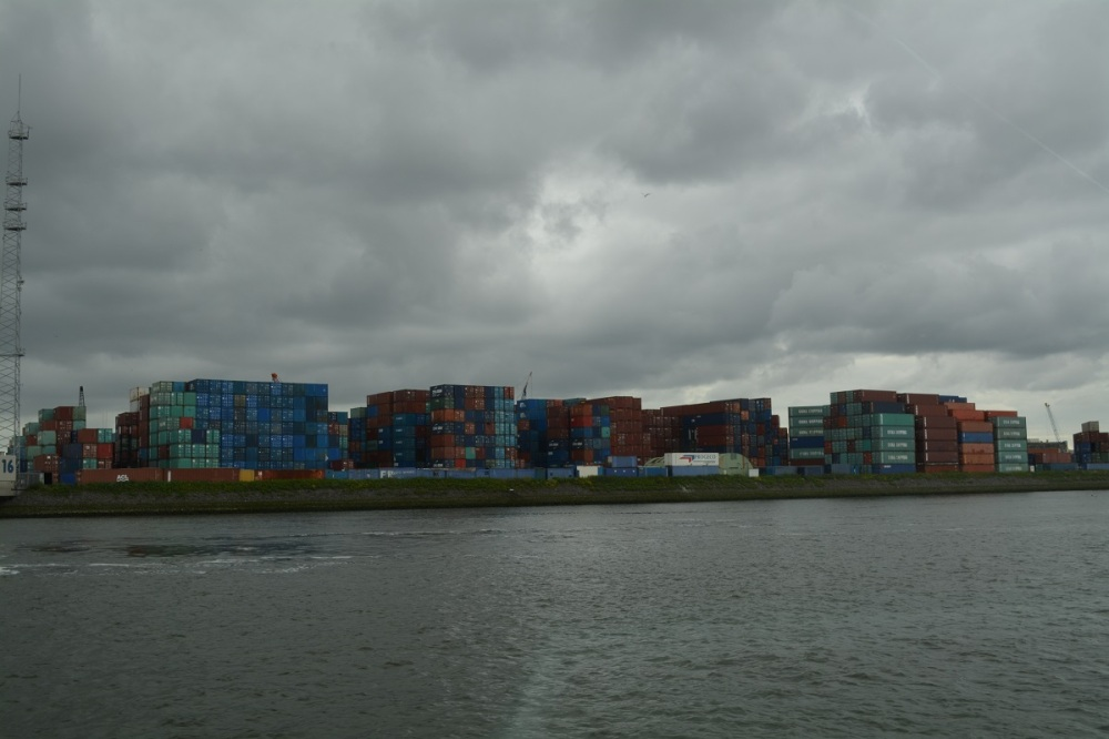 Some of the thousands of containers. Our Troopy sailed from Australia to the UK in a 20 ft container