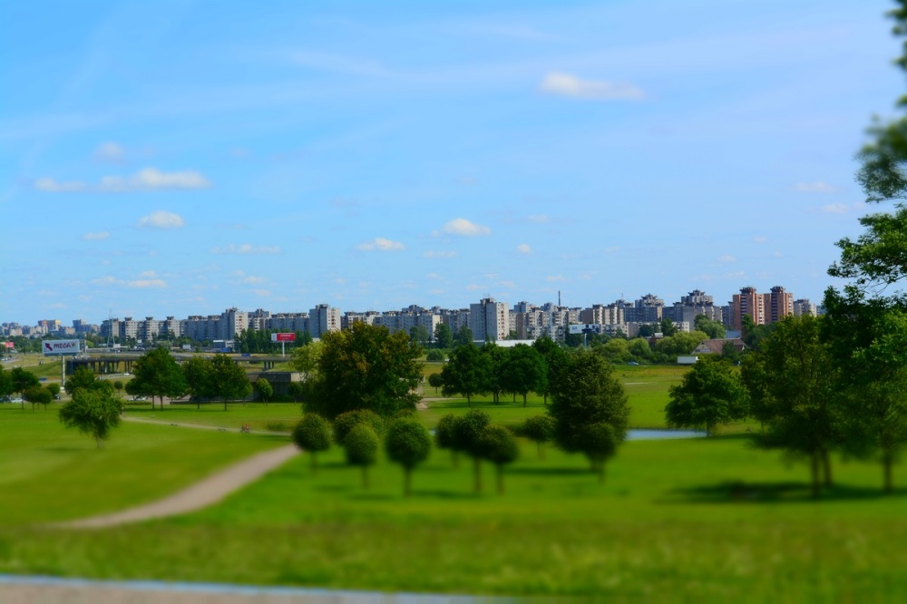 The city of Kaunas as seen from the Ninth Fort