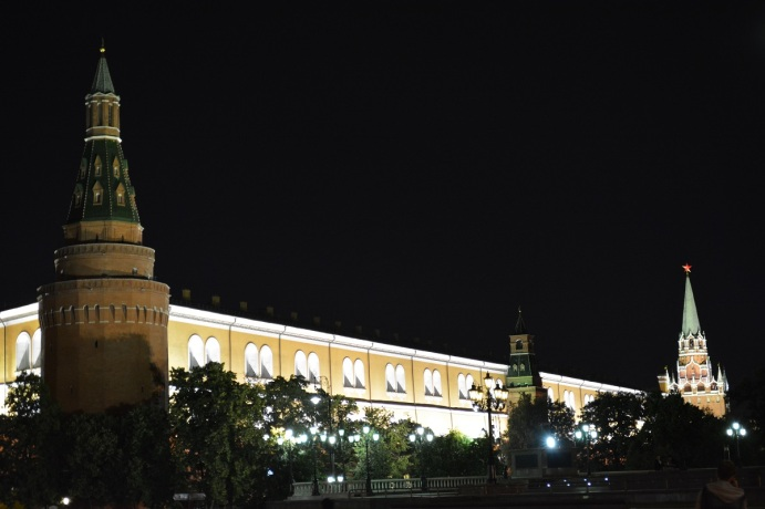 The Kremlin by night