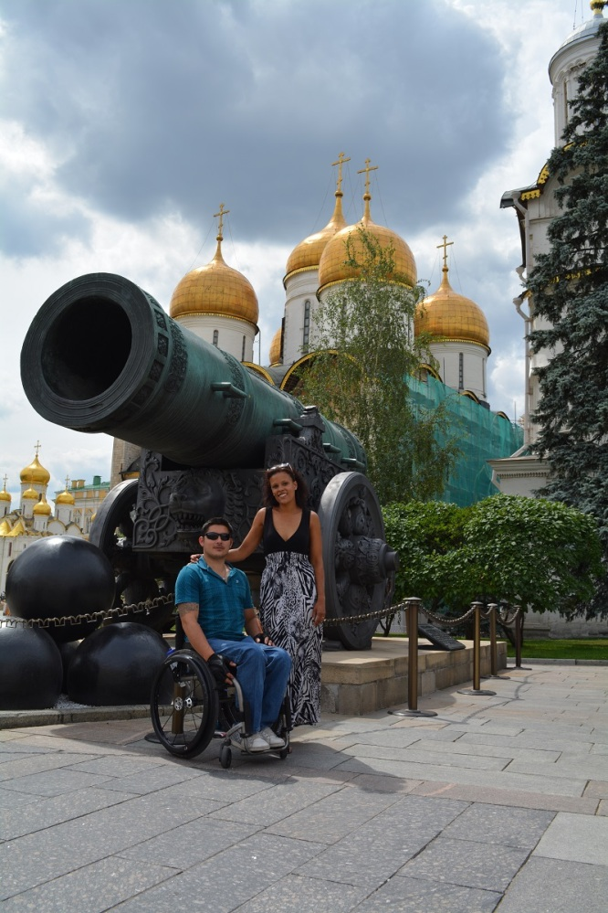 The Tsar Cannon - cast in the 1560's and just under 6m long. Possibly only fired once, and never in a war.