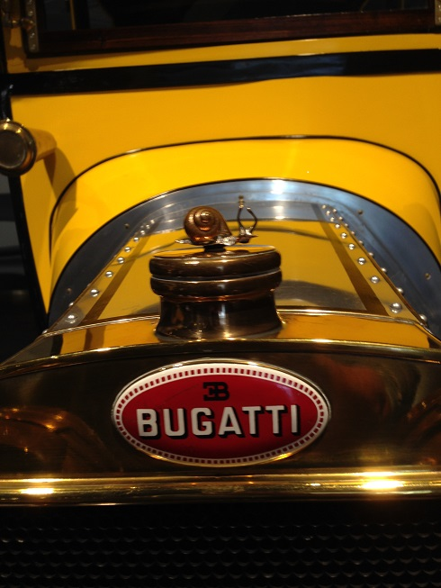 The original Bugatti emblem, a snail.