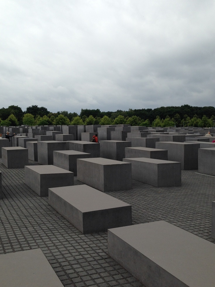 The shrine in the centre of Berlin dedicated to the 6 million Jewish people that were murdered between 1939-1945 by the Nazi's