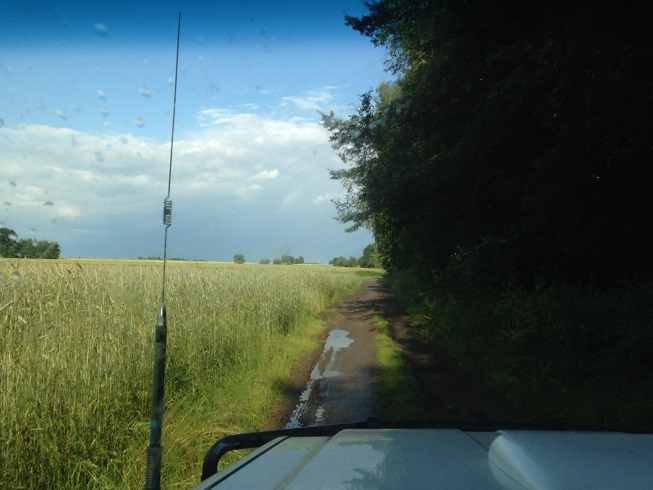 GPS choose this route, 20km through muddy fields