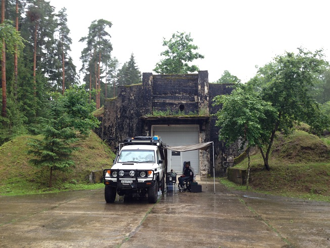 It rained SO HARD here - packing up was interesting but our waterproof roof boxes rocked. Nothing is too much trouble!