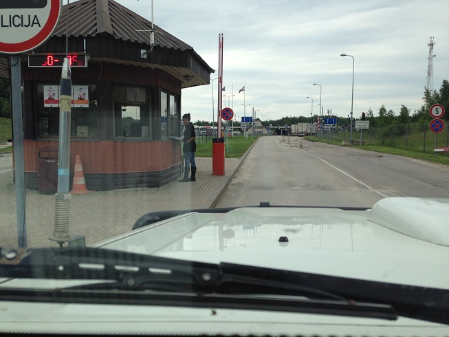 A sneaky pic of the first border checkpoint