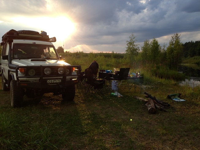 One of the may wild camps in Russia