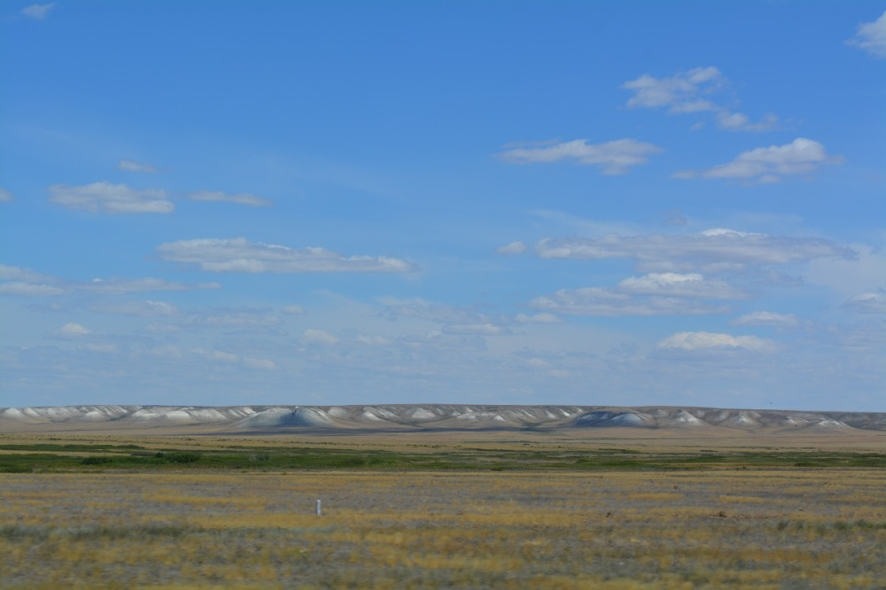 A change to the flat scenery of the steppe - beautiful