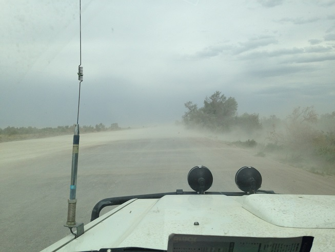 Hitting a dust storm en-route