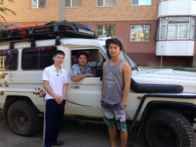 Our first Kazakh friends