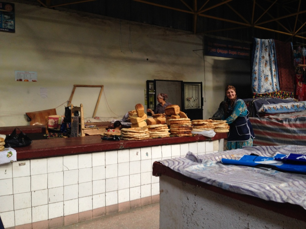 Bread selling at the Bazaar