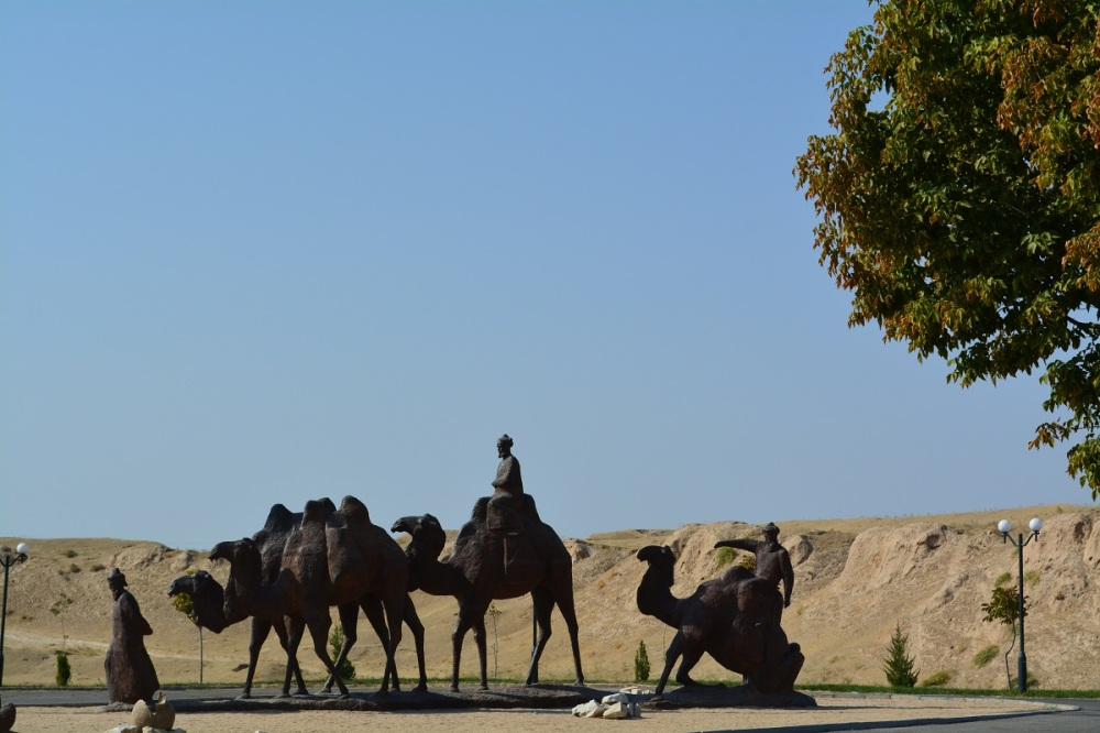 A cool series of sculptures on the outskirts of Samarkand. Homage to the silk road trade.