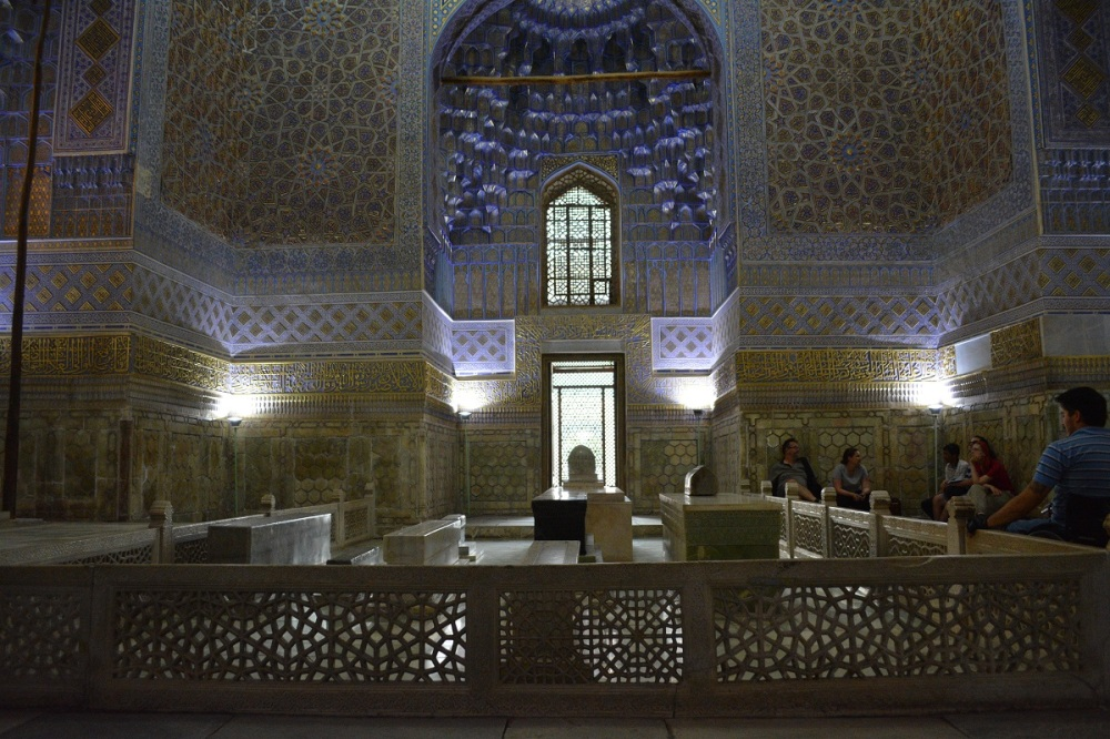 The Tomb of Amir Timur, with his Jade sarcophagus.