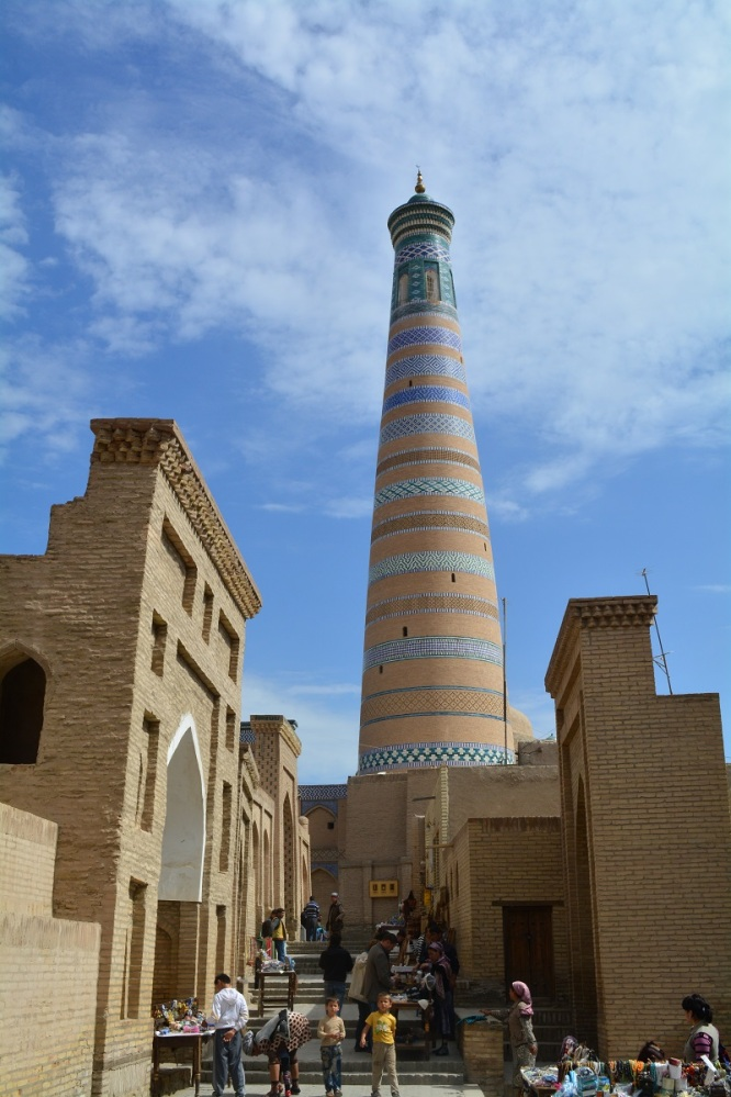 The Islam-Khodja Minaret is about 56m tall