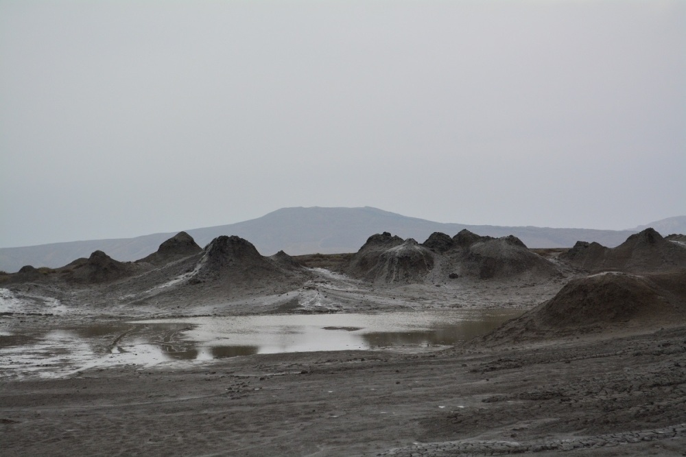 Muddy mud volcanoes