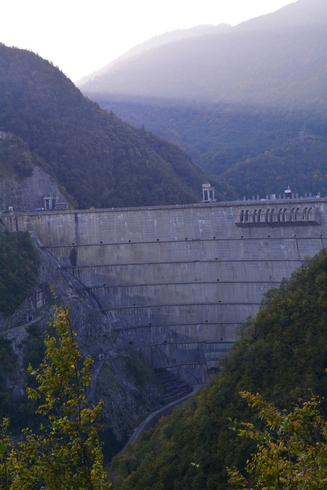 Georgia's biggest dam, built by the Soviets