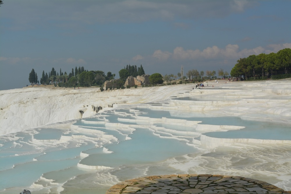 "The ""cotton castles"" or Pamukkale in Turkish"
