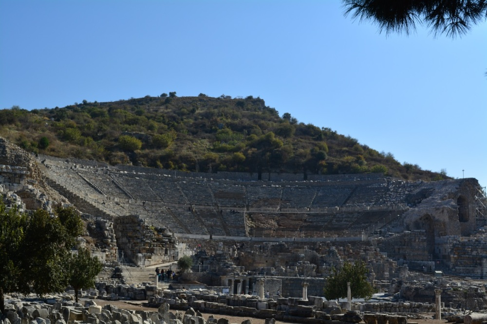 Massive theater with seating for half the population of Efes