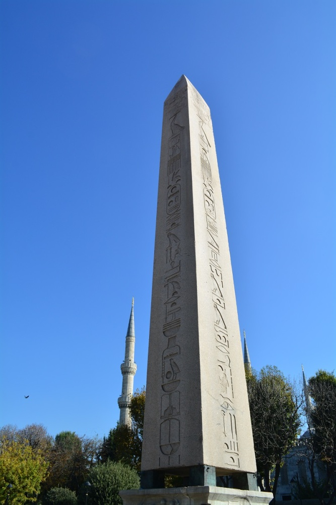 The 2400 year old Egyptian Obelisk was erected here in the 4th century by a Roman emperor