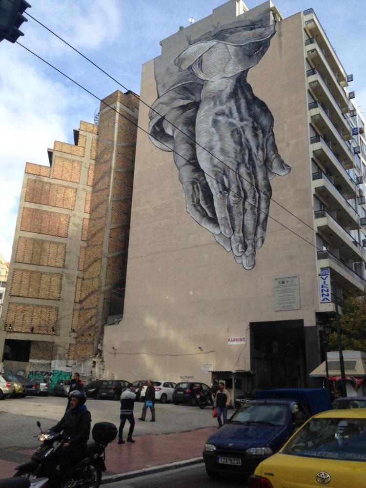 Amazing street art, something politically charged?