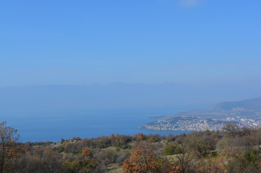 View of Ohrid from the mountain climb.