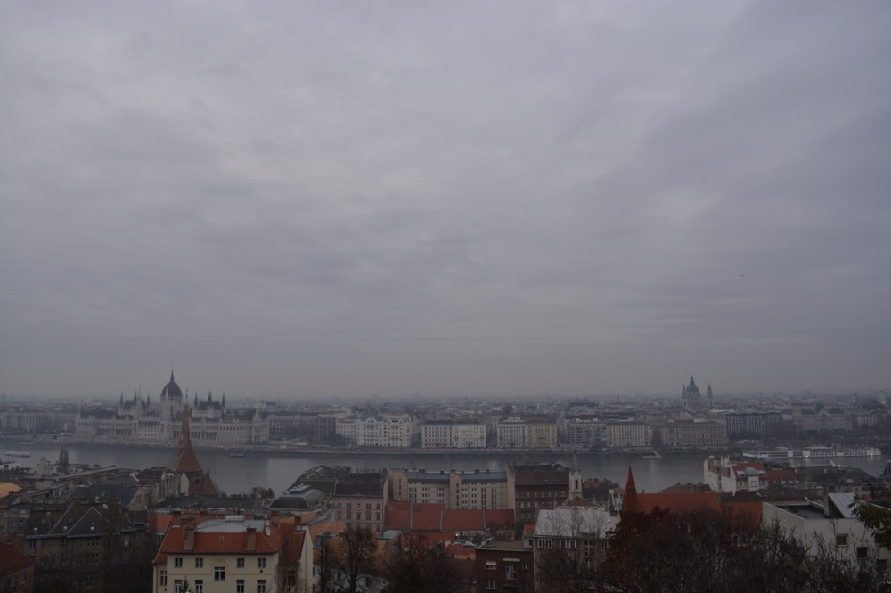 View over the Danube looking at Pest