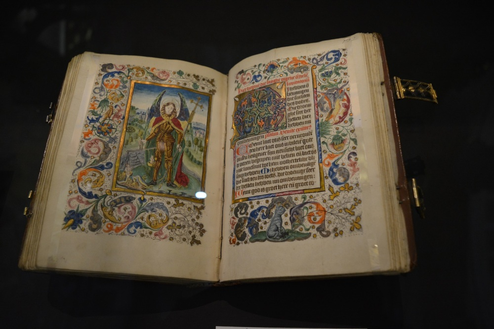 Some of the exhibits. This book was written in 1450